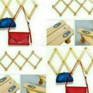 wooden hanger organizer at cheapest price on 9jabay